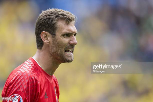 goalkeeper Andreas Isaksson of Sweden during the UEFA EURO 2016 Group E group stage match between Republic of Ireland and Sweden at the Stade de...