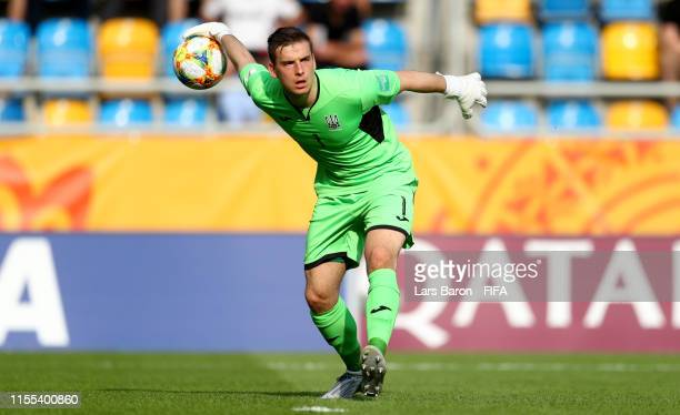 Goalkeeper Andrii Lunin of Ukraine is seen during the 2019 FIFA U20 World Cup Semi Final match between Ukraine and Italy at Gdynia Stadium on June 11...
