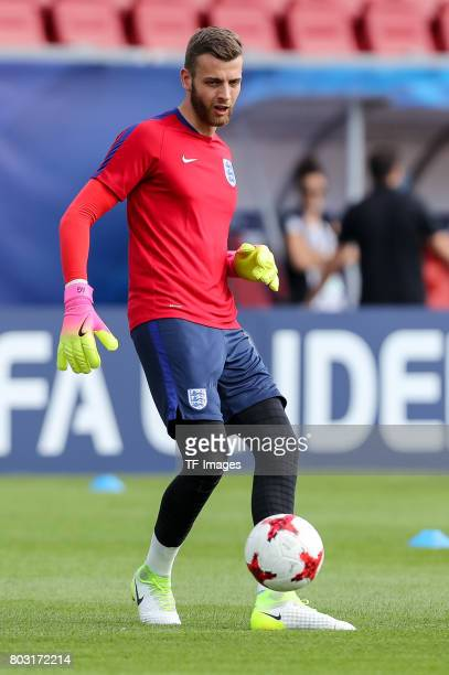 Goalkeeper Angus Gunn of England in action during the 2017 UEFA European Under21 Championship match between Slovakia and England on June 19 2017 in...
