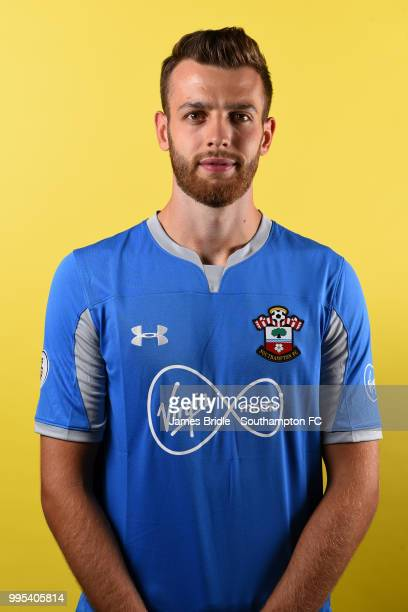 Goalkeeper Angus Gunn signs for Southampton FC at Staplewood Training Ground on July 10 2018 in Southampton England