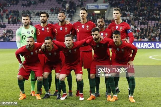 goalkeeper Anthony Lopes of Portugal Andre Gomes of Portugal Rolando of Portugal Jose Fonte of Portugal Manuel Fernandes of Portugal Cristiano...