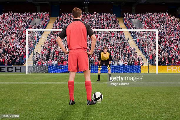goalkeeper anticipating free kick - shootout stock pictures, royalty-free photos & images