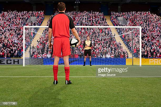 goalkeeper anticipating free kick - penalty kick stock pictures, royalty-free photos & images