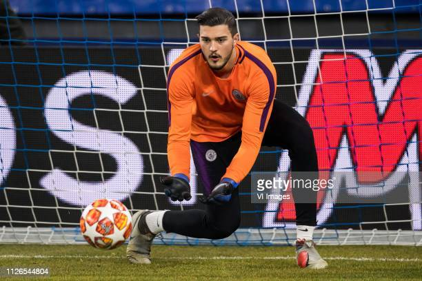 goalkeeper Arijanet Muric of Manchester City during the UEFA Champions League round of 16 match between Schalke 04 and Manchester City at Arena Auf...