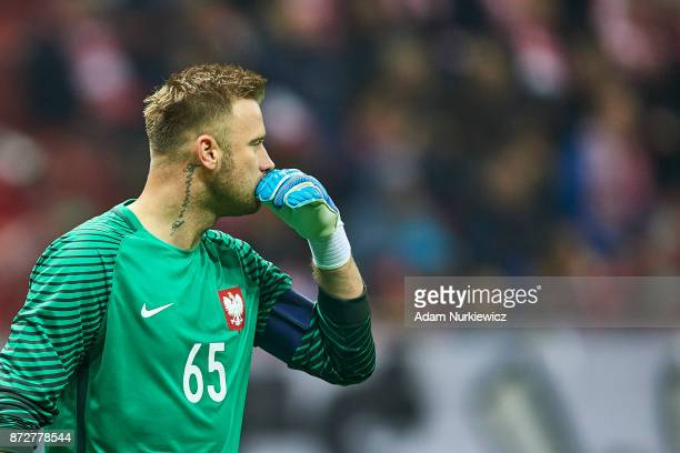 Goalkeeper Artur Boruc from Poland looks forward while his last game for national team Poland v Uruguay International Friendly soccer match at...