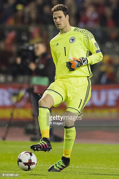 goalkeeper Asmir Begovic of Bosnia and Herzegovinaduring the FIFA World Cup 2018 qualifying match between Belgium and Bosnie Herzegowina on October...