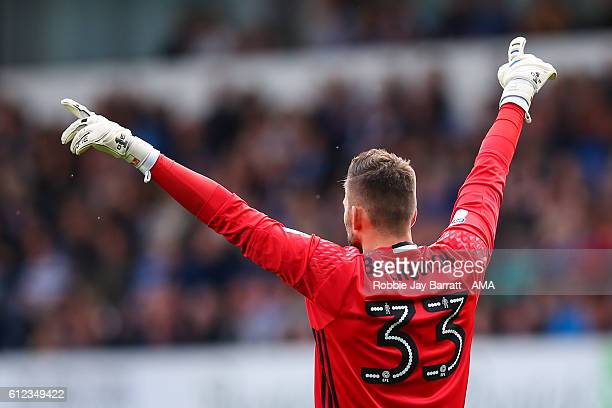 Goalkeeper Bartosz Bialkowski of Ipswich Town during the Sky Bet Championship match between Ipswich Town and Huddersfield Town at Portman Road on...