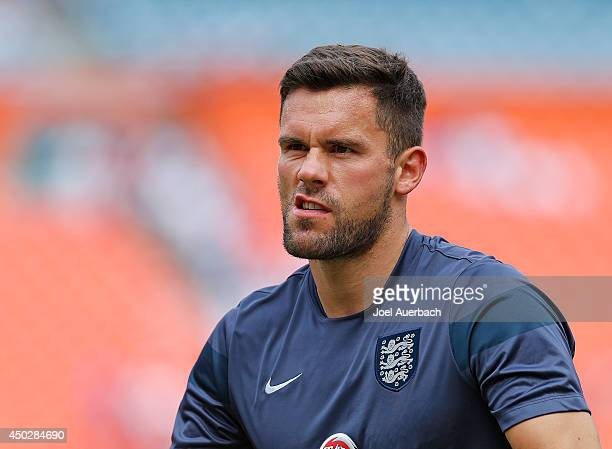 Goalkeeper Ben Foster of England warms up prior to the International friendly game against Honduras on June 7 2014 at SunLife Stadium in Miami...