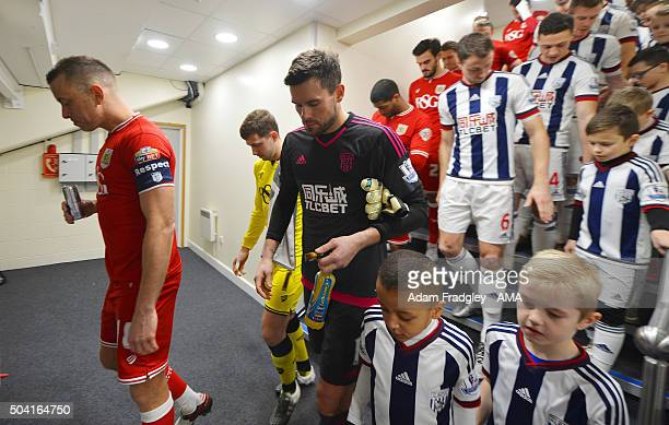 Goalkeeper Ben Foster of West Bromwich Albion in the tunnel prior to The Emirates FA Cup 3rd Round Match between West Bromwich Albion and Bristol...