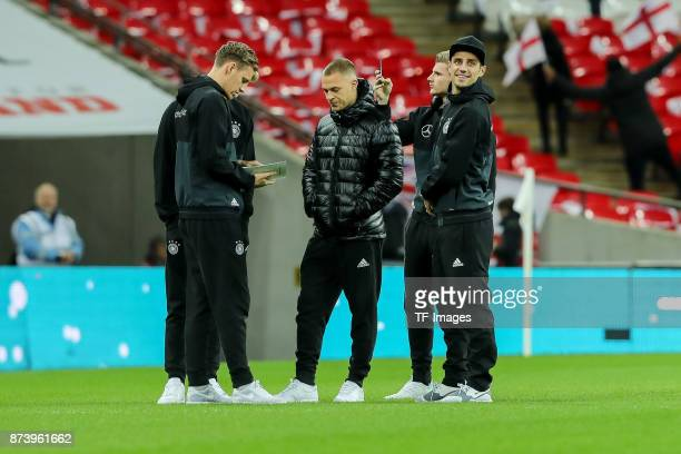Goalkeeper Bernd Leno of Germany Timo Werner of Germany Joshua Kimmich of Germany Lars Stindl of Germany gucken during the international friendly...