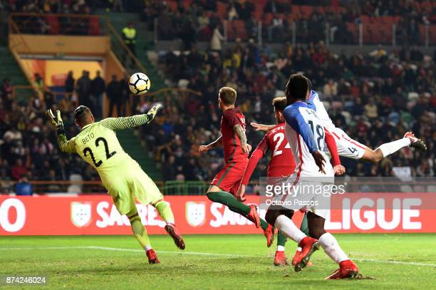 Goalkeeper Beto of Portugal in action during the International Friendly match between Portugal and USA at Estadio Municipal Leiria on November 14...