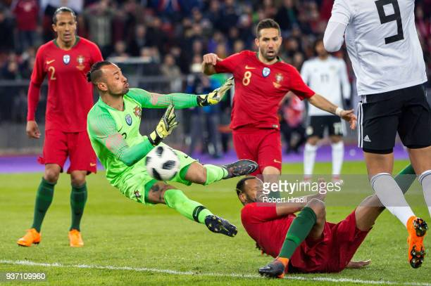 Goalkeeper Beto of Portugal makes a save during the International Friendly between Portugal and Egypt at the Letzigrund Stadium on March 23 2018 in...