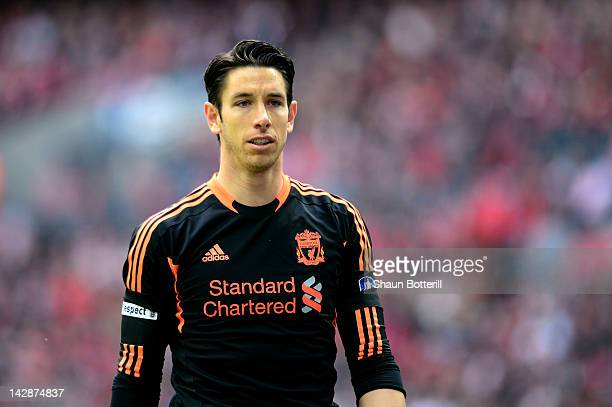 Goalkeeper Brad Jones of Liverpool looks on during the FA Cup with Budweiser Semi Final match between Liverpool and Everton at Wembley Stadium on...