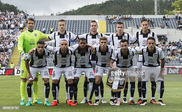 goalkeeper Bram Castro of Heracles Almelo Mike te Wierik of Heracles Almelo Ramon Zomer of Heracles Almelo Tim Breukers of Heracles Almelo Paul...