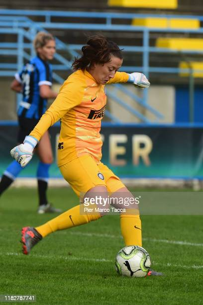 Goalkeeper Chiara Marchitelli of FC Internazionale Women in action during the Women Serie A match between FC Internazionale and Orobica at Campo...