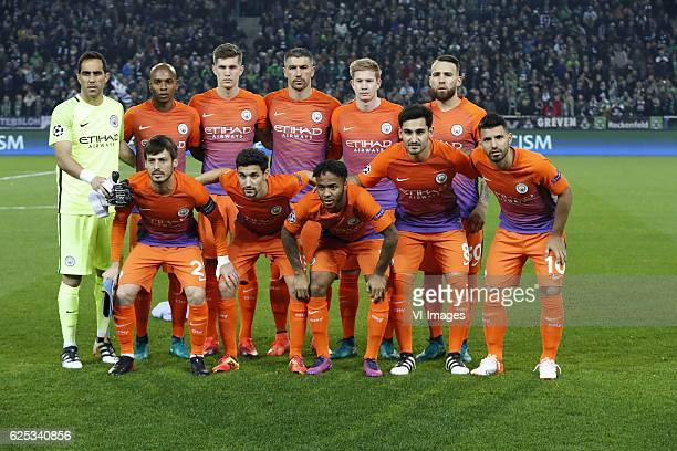 goalkeeper Claudio Bravo of Manchester City Fernandinho of Manchester City John Stones of Manchester City Aleksandar Kolarov of Manchester City Kevin...
