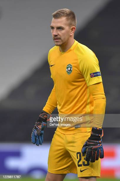 goalkeeper ClaudiuAndrei KESERU of Ludogorets looks on during the UEFA Europa League Group J stage match between Tottenham Hotspur and PFC Ludogorets...