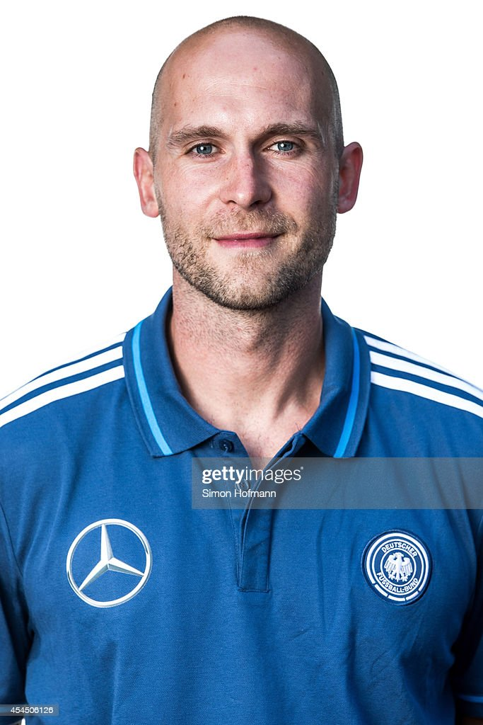 Goalkeeper coach Christian Vander poses during the team presentation of U20 Germany at Waldstadion on September 2, 2014 in Homburg, Germany.