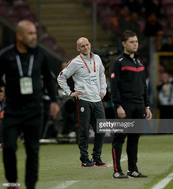 Goalkeeper coach Claudio Taffarel of Galatasaray reacts during the Turkish Spor Toto Super League football match between Galatasaray and Antayaspor...