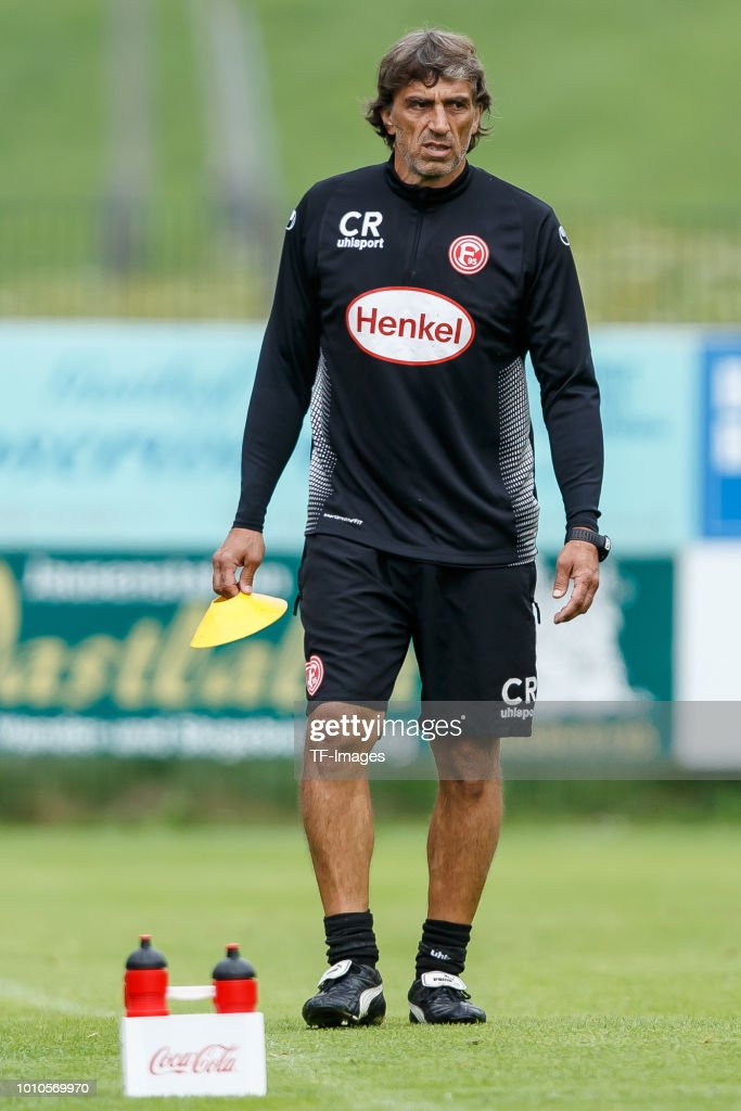 Goalkeeper coach Claus Reitmaier of Fortuna Duesseldorf looks on during the Fortuna Duesseldorf training camp on July 23, 2018 in Maria Alm, Austria.