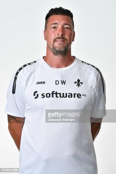 Goalkeeper coach Dimo Wache of SV Darmstadt 98 poses during the team presentation at MerckStadion am Boellenfalltor on July 20 2017 in Darmstadt...