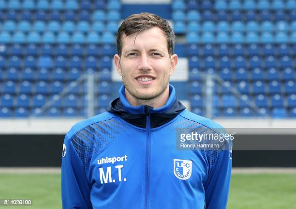 Goalkeeper coach Matthias Tischer poses during the team presentation of 1 FC Magdeburg at MDCCArena on July 13 2017 in Magdeburg Germany