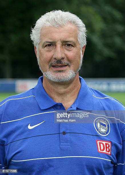 Goalkeeper coach Nello di Martino poses during the Hertha BSC Berlin Team Presentation on July 18 2008 in Berlin Germany