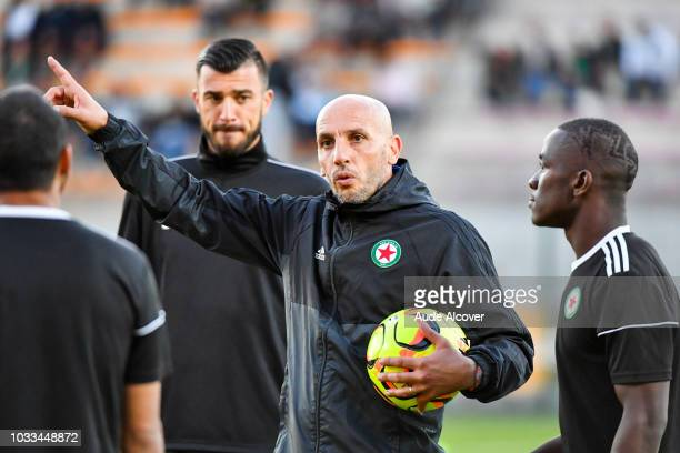Goalkeeper coach of Red Star Faouzi Amzal during the French Ligue 2 match between Red star and Lorient at Stade Pierre Brisson on September 14 2018...