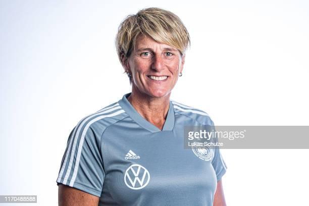 Goalkeeper coach Silke Rottenberg poses on August 27 2019 in Tilburg Netherlands