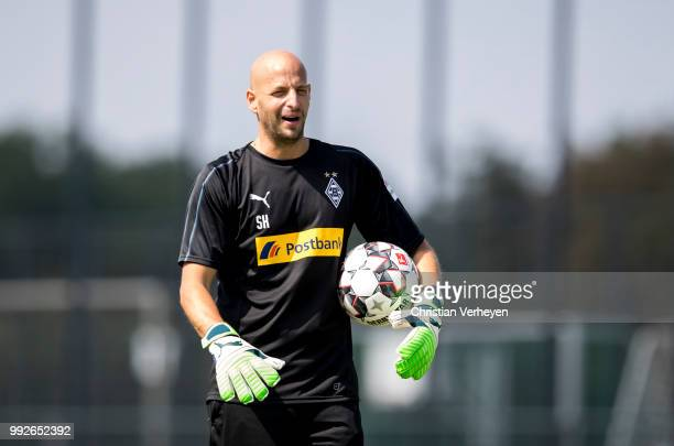 Goalkeeper Coach Steffen Krebs during a training session of Borussia Moenchengladbach at BorussiaPark on July 06 2018 in Moenchengladbach Germany