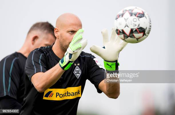 Goalkeeper Coach Steffen Krebs during a training session of Borussia Moenchengladbach at BorussiaPark on July 05 2018 in Moenchengladbach Germany