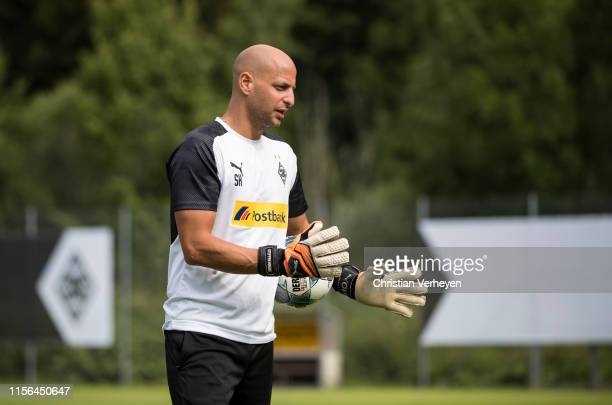 Goalkeeper Coach Steffen Krebs is seen during the Borussia Moenchengladbach Training Camp on July 19, 2019 in Rottach-Egern, Germany.