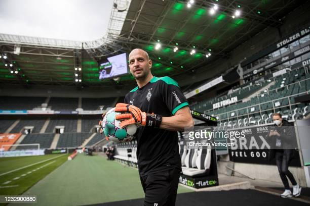 Goalkeeper Coach Steffen Krebs of Borussia Moenchengladbach is seen before the Bundesliga match between Borussia Moenchengladbach and VfB Stuttgart...