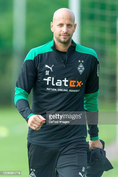 Goalkeeper coach Steffen Krebs of Borussia Moenchengladbach looks on during day 2 of the pre-season summer training camp of Borussia Moenchengladbach...