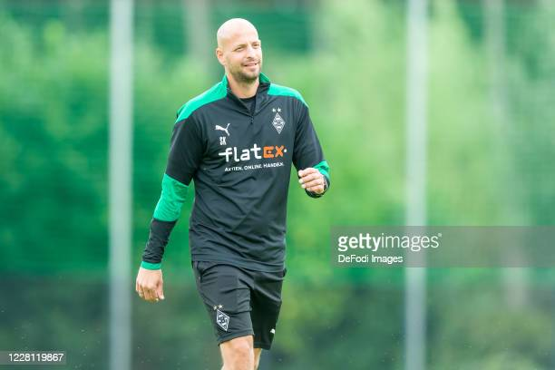Goalkeeper coach Steffen Krebs of Borussia Moenchengladbach looks on during day 4 of the pre-season summer training camp of Borussia Moenchengladbach...