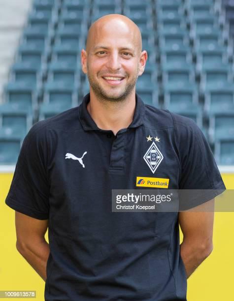 Goalkeeper coach Steffen Krebs of Borussia Moenchengladbach poses during the team presentation at Borussia Park on August 2 2018 in Moenchengladbach...