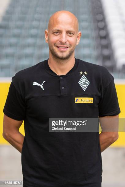 Goalkeeper coach Steffen Krebs of Borussia Moenchengladbach poses during the team presentation at Borussia-Park on August 01, 2019 in...