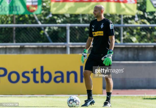 Goalkeeper coach Steffen Krebs of Moenchengladbach looks on during the Borussia Moenchengladbach training camp on July 24 2018 in RottachEgern Germany