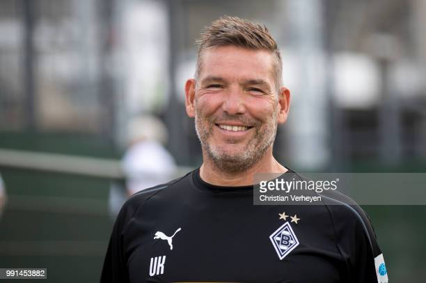 Goalkeeper Coach Uwe Kamps during a training session of Borussia Moenchengladbach at BorussiaPark on July 04 2018 in Moenchengladbach Germany