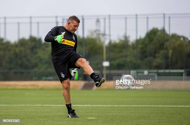 Goalkeeper Coach Uwe Kamps during a training session of Borussia Moenchengladbach at BorussiaPark on July 05 2018 in Moenchengladbach Germany