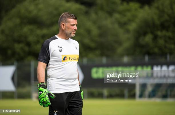 Goalkeeper Coach Uwe Kamps is seen during the Borussia Moenchengladbach Training Camp on July 19 2019 in RottachEgern Germany