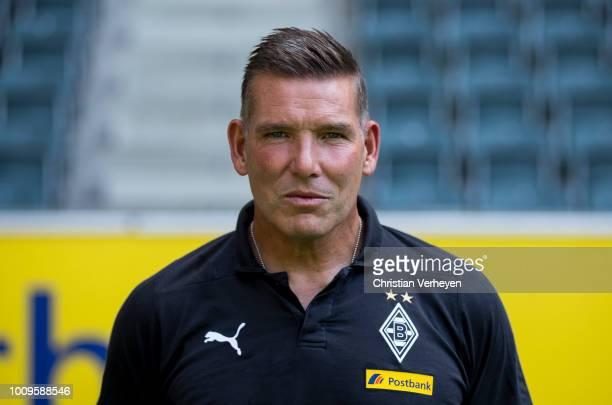 Goalkeeper Coach Uwe Kamps of Borussia Moenchengladbach poses during the Team Presentation of Borussia Moenchengladbach at BorussiaPark on August 02...