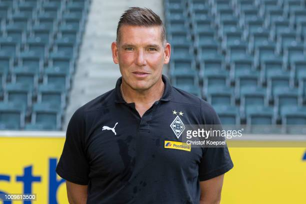 Goalkeeper coach Uwe Kamps of Borussia Moenchengladbach poses during the team presentation at Borussia Park on August 2 2018 in Moenchengladbach...