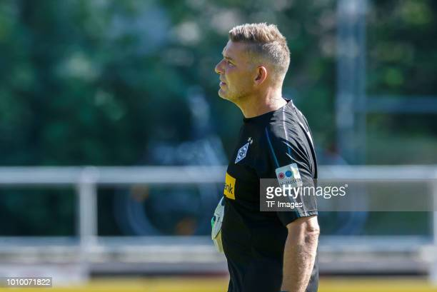 Goalkeeper coach Uwe Kamps of Moenchengladbach looks on during the Borussia Moenchengladbach training camp on July 24 2018 in RottachEgern Germany