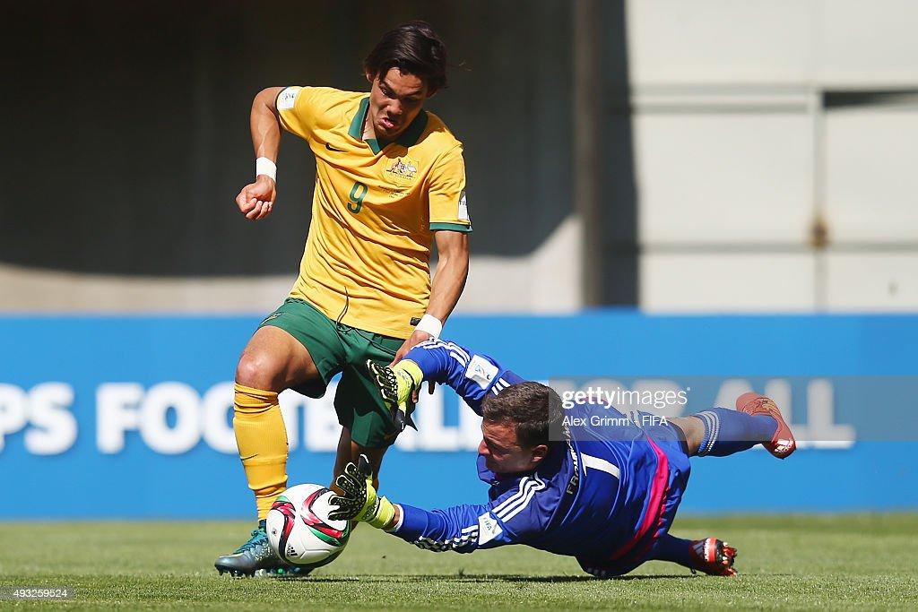 Australia v Germany: Group C - FIFA U-17 World Cup Chile 2015 : Fotografía de noticias