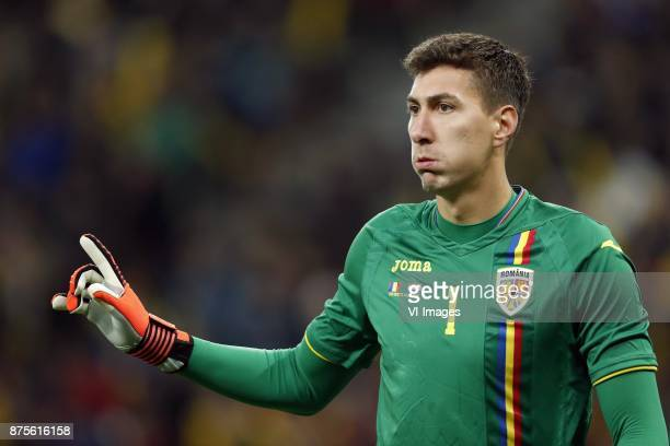 goalkeeper Costel Pantilimon of Romania during the friendly match between Romania and The Netherlands on November 14 2017 at Arena National in...
