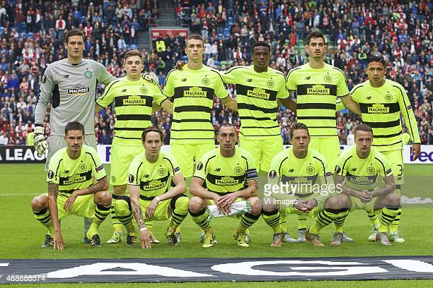 goalkeeper Craig Gordon of Celtic FC James Forrest of Celtic FC Jozo Simunovic of Celtic FC Dedryck Boyata of Celtic FC Nir Biton of Celtic FC Emilio...