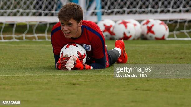 Goalkeeper Curtis Anderson of England in action during a training session ahead of the FIFA U17 World Cup India 2017 tournament at Kolkata 1 Training...