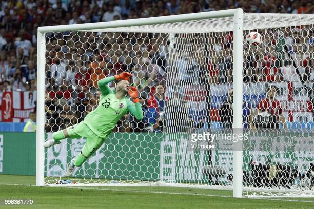 goalkeeper Danijel Subasic of Croatia during the 2018 FIFA World Cup Russia Semi Final match between Croatia and England at the Luzhniki Stadium on...