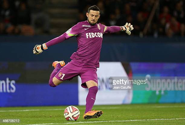 Goalkeeper Danijel Subasic of Monaco in action during the French Ligue 1 match between Paris SaintGermain FC and AS Monaco at Parc des Princes...